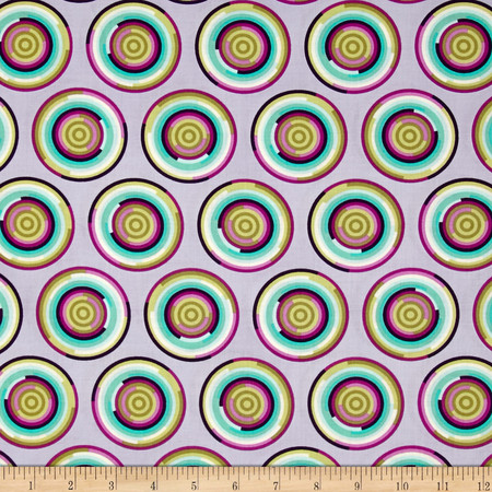 Tula Pink Chipper The Hypnotizer Raspberry Fabric By The Yard