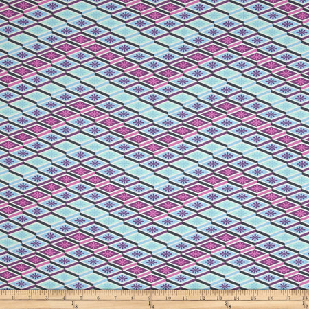 Tula Pink Eden Labyrinth Glacier Fabric By The Yard