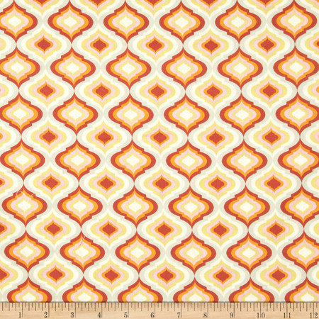 Tula Pink Moon Shine Lantern Tangerine Fabric By The Yard