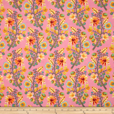 Tula Pink Moon Shine Sprout Blush Fabric By The Yard