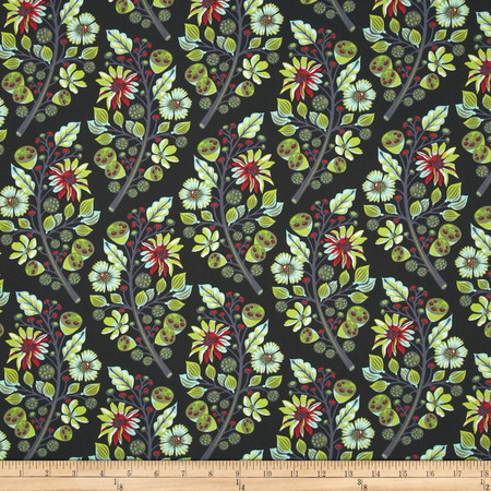Tula Pink Moon Shine Sprout Midnight Fabric By The Yard