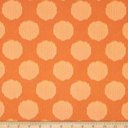 Tula Pink Moon Shine Static Dot Tangerine Fabric
