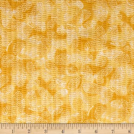 Tutti Fruitti Plisse Yellow Fabric