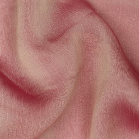 Two Tone Chiffon Pink/Gold Fabric By The Yard