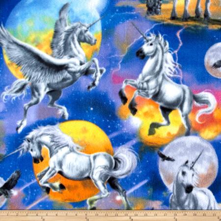 Unicorn & Planets Multi Fabric