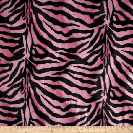Velboa Faux Fur Zebra Pink Fabric