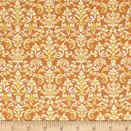 Vera Cruz Medallion Canary Fabric By The Yard