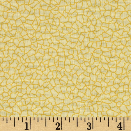 Victorian Elegance Cracked Marble Yellow Fabric
