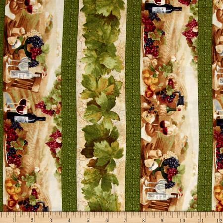 Vino Bellisimo Wine Repeating Stripe Multi Fabric