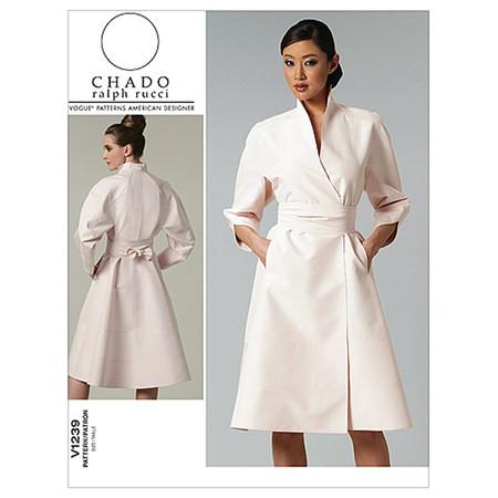 Vogue Misses' Dress and Belt Pattern V1239 Size AA0
