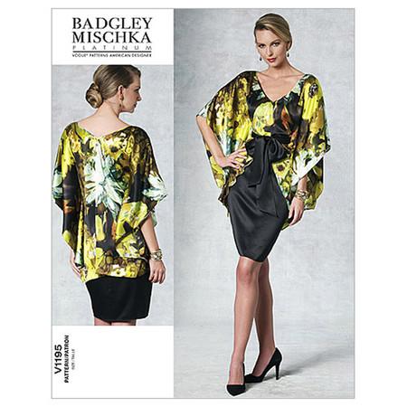 Vogue Misses' Top Dress And Belt Pattern V1195 Size AA0