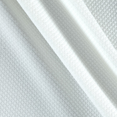 Waffle Double Knit Ivory Fabric By The Yard