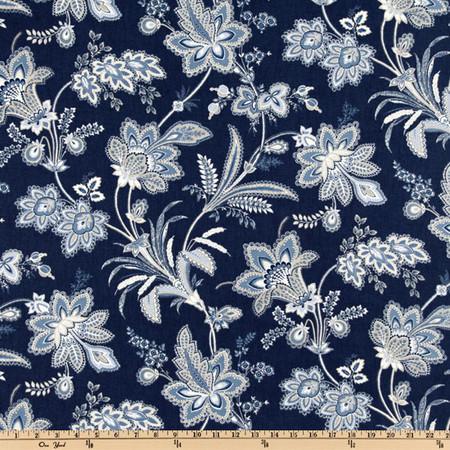 Waverly Barano Indigo Fabric By The Yard