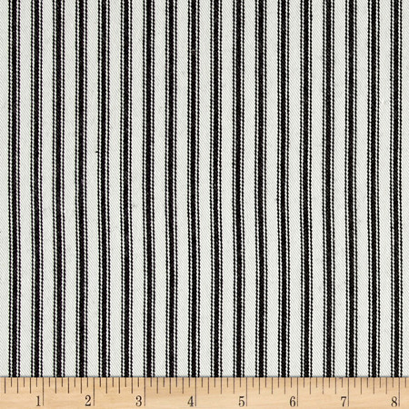 Waverly Classic Ticking Black Fabric By The Yard