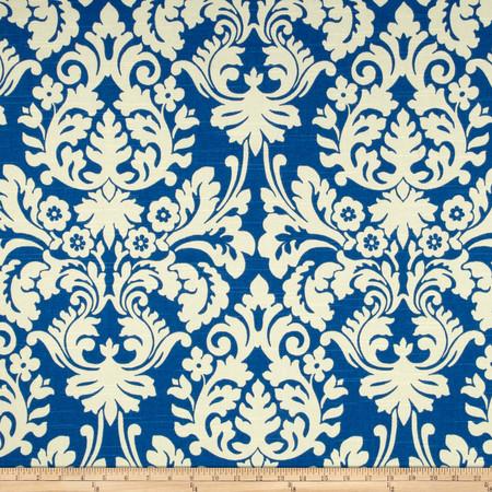Waverly Close Up Slub Navy Fabric