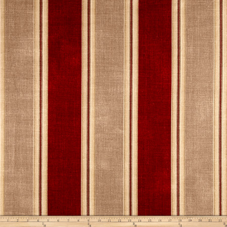 Waverly Country Club Crimson Fabric By The Yard