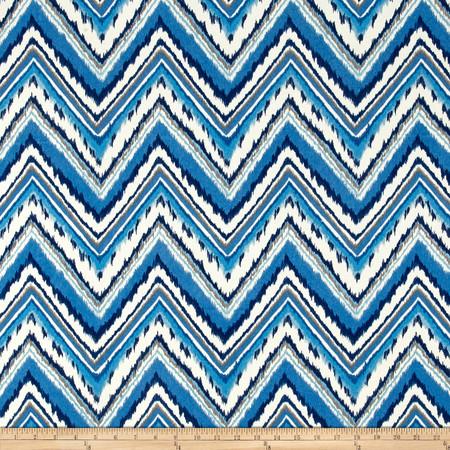 Waverly Dena Designs Chevron Charade Sapphire Fabric By The Yard