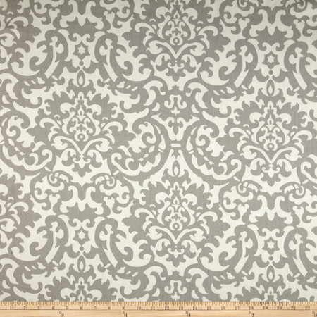 Waverly Duncan Damask Twill Sterling Fabric By The Yard