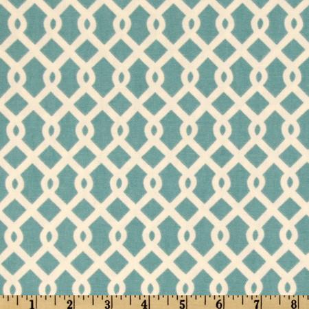 Waverly Ellis Turquoise Fabric By The Yard