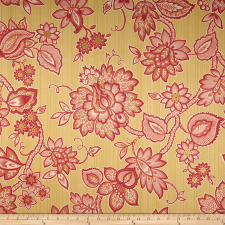 Waverly Floral Flair Twill Golden Fabric By The Yard