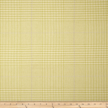 Waverly Grantham Plaid Woven Celery Fabric By The Yard