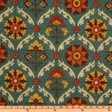 Waverly Mayan Medallion Adobe Fabric By The Yard