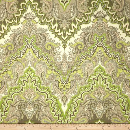 Waverly Paisley Verse Slub Mineral Fabric