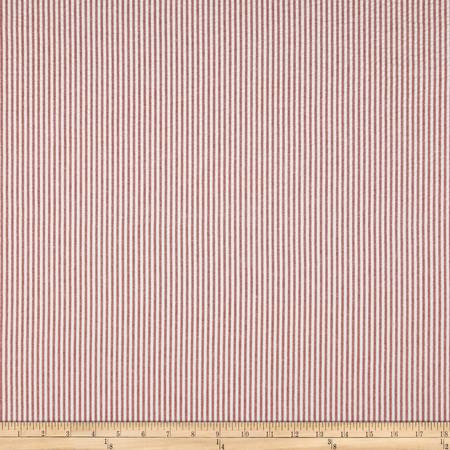 Waverly Pucker Up Seersucker Stripe Currant Fabric