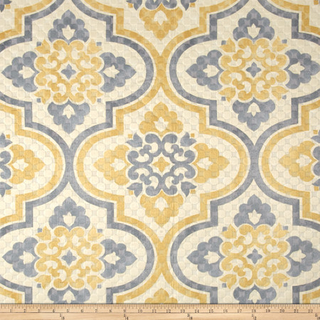 Waverly Quilted Lattice Imprint Sunshower Fabric By The Yard