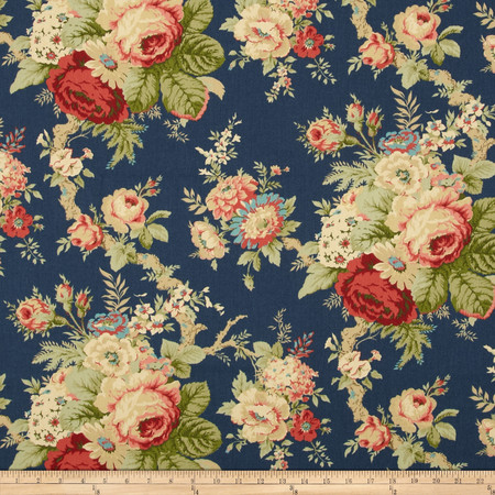 Waverly Sanctuary Rose Heritage Fabric By The Yard