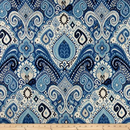 Waverly Sun N Shade Boho Passage Lapis Fabric By The Yard