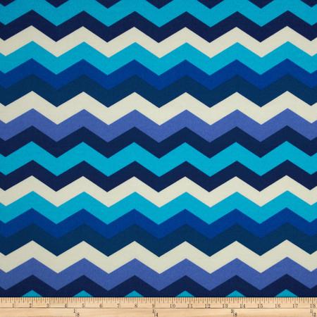 Waverly Sun N Shade Panama Wave Azure Fabric By The Yard