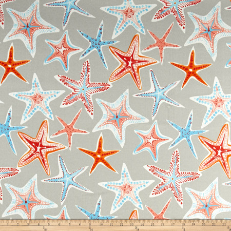 Waverly Sun N Shade Stars Collide Pewter Fabric By The Yard