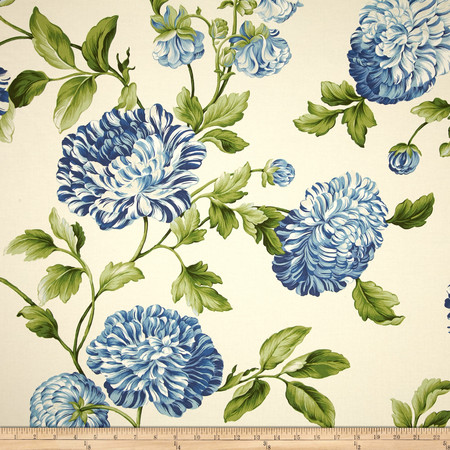 Waverly Williamsburg Charlotte Twill Bluebell Fabric