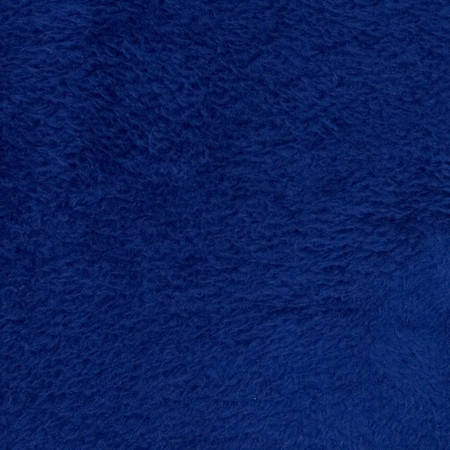 Whisper Coral Fleece Solid Sapphire Fabric By The Yard
