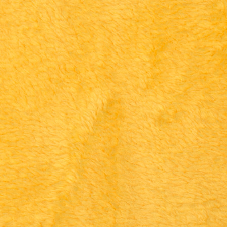 Whisper Coral Fleece Solid Yellow Fabric By The Yard