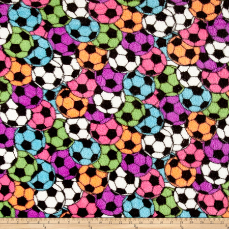 Whisper Plush Fleece Soccer Stadium Bright Fabric By The Yard