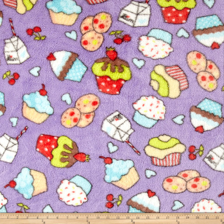 Whisper Plush Fleece Sweet Shop Lilac Fabric By The Yard