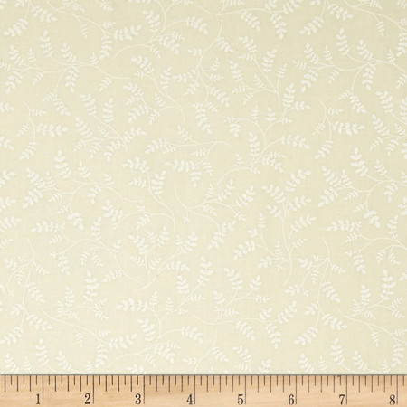 Whisper Prints Small Branches Tonal Ivory Fabric
