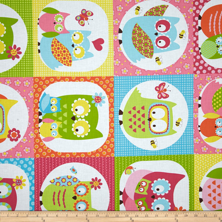 Whoo Loves You Patchwork Multi Fabric