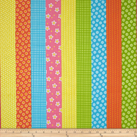 Whoo Loves You Stripe Multi Fabric