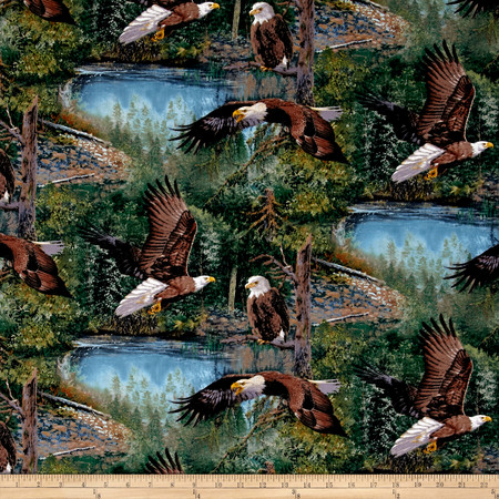 Wild Wings Scenics Winged Warrior Multi Fabric By The Yard