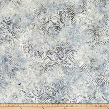 Wilmington Batiks Feathers Light Gray Fabric By The Yard