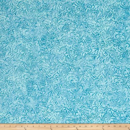 Wilmington Batiks Flourish Aqua Fabric By The Yard