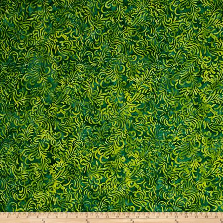 Wilmington Batiks Flourish Dark Green Fabric By The Yard