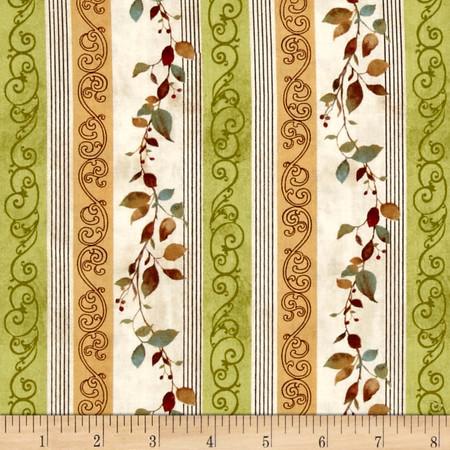 Wind Symphony Harvest Leaf Stripe Multi Fabric