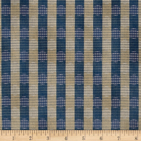 Windham Settlement Stripe Blue Fabric By The Yard