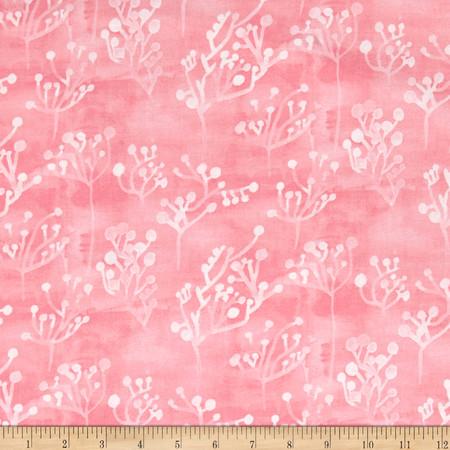 Windham Sunnyside Seaweed  Pink Fabric By The Yard