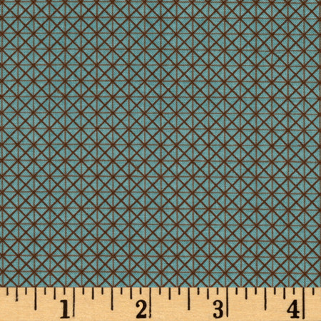 Windham Textured Leaves Graphic Texture  Teal Fabric By The Yard