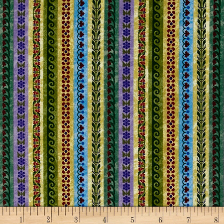 Windsor Woods Borders Multi Fabric By The Yard